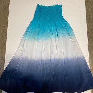 3 / $25! ✰ Barbara Lesser Shirred Top Ombre Dress